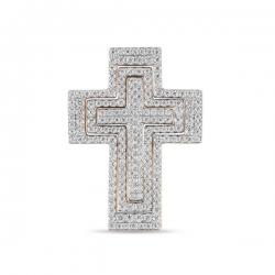 Золотой крестик c фианитами