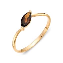 Кольцо из красного золота с раухтопазом