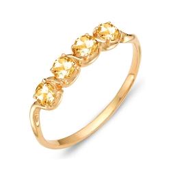 Кольцо из красного золота с цитринами