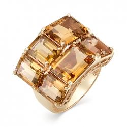 Кольцо из красного золота с султанитами