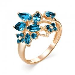 Кольцо из красного золота с топазами
