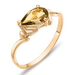 Кольцо из красного золота с цитрином