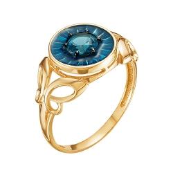 Золотое кольцо с топазом Лондон