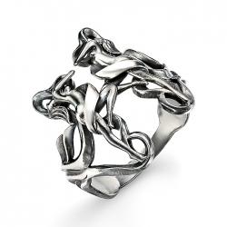 Кольцо из серебра без камней
