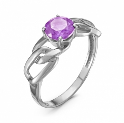 Кольцо из серебра с аметистом