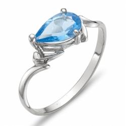 Кольцо из серебра с топазом