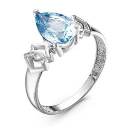 Кольцо из серебра с ювелирным стеклом