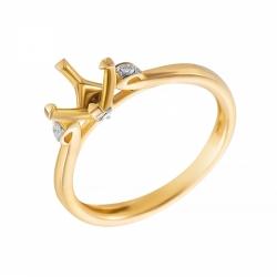 Оправа кольца из золота с бриллиантами