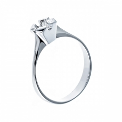 Оправа кольца из белого золота