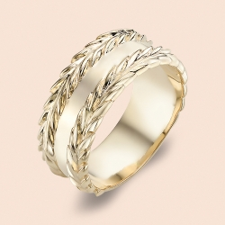Кольцо обручальное из красного золота