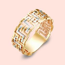 Кольцо обручальное «Аид» из красного золота