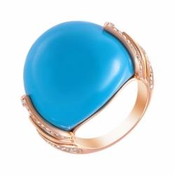 Кольцо из золота с бирюзой и бриллиантами