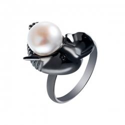 Кольцо из серебра 925 пробы с культивированными жемчугами
