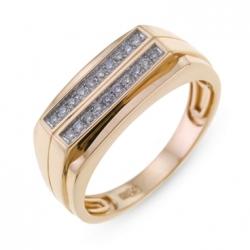 Мужское золотое кольцо c бриллиантами