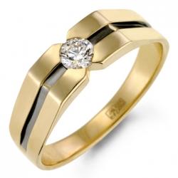Мужское золотое кольцо c бриллиантом