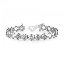 Винтажный золотой браслет с бриллиантами из белого золота