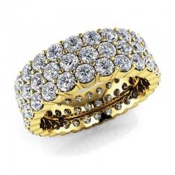 Обручальное кольцо из желтого золота с муассанитами