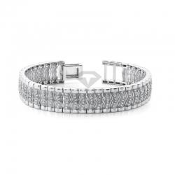 Мужской браслет из белого золота с бриллиантами