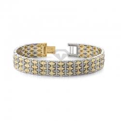 Мужской браслет из золота двух цветов с бриллиантами