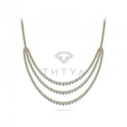 Ожерелье из желтого золота с бриллиантами