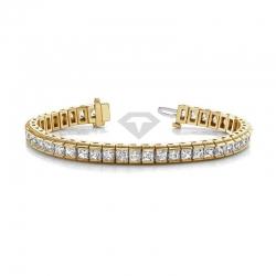 Винтажный браслет из желтого золота с бриллиантами