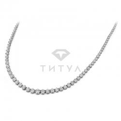 Ожерелье из белого золота с муассанитами