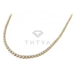 Ожерелье из желтого золота с муассанитами