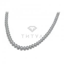 Винтажное ожерелье из белого золота с бриллиантами