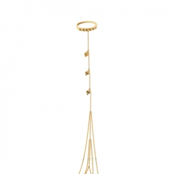 Кольцо-браслет из золота 585 пробы с бриллиантами