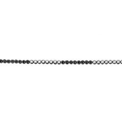 Браслет из черного золота 585 пробы с бриллиантами