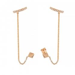 Серьги из розового золота 585 пробы с бриллиантами