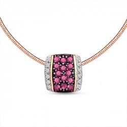 Золотое колье c бриллиантами и рубинами