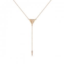 Золотое колье Геометрия c бриллиантами