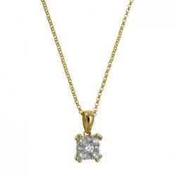 Золотое колье c бриллиантами