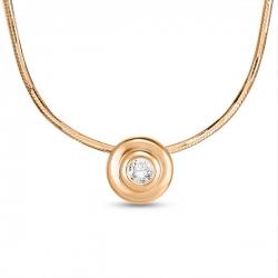 Золотое колье c бриллиантом