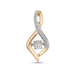 Золотая подвеска c бриллиантами Энигма
