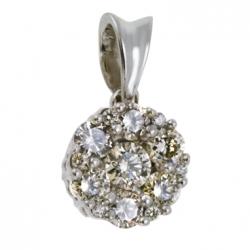 Золотая подвеска c бриллиантами