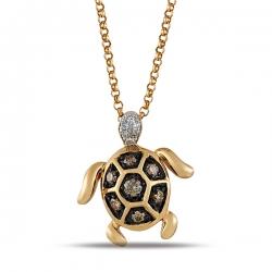 Золотая подвеска «Черепашка» c бриллиантами