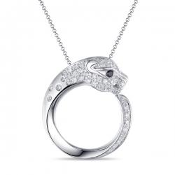 Золотое колье Пантера c бриллиантами