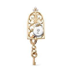 Подвеска Замок и ключ из красного золота с бриллиантами