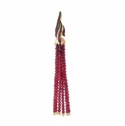 Подвеска из красного золота 585° с рубинами, шпинелями