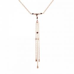 Колье из розового золота 585 пробы с бриллиантами