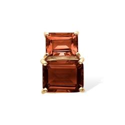 Подвеска из красного золота с гранатами