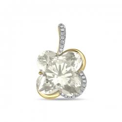 Золотая подвеска c аметистом и бриллиантами