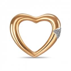 Золотая подвеска c бриллиантами Романтика