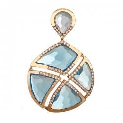 Золотая подвеска c топазами и бриллиантами
