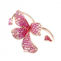 Кольцо из розового золота 585 пробы с сапфирами и бриллиантами
