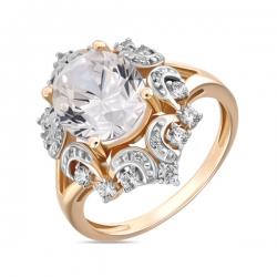 Золотое кольцо c фианитами