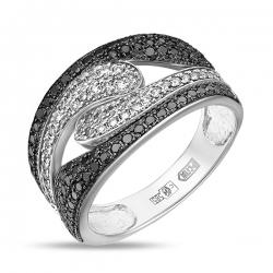 Золотое кольцо c бриллиантами Северное сияние