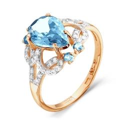 Золотое кольцо c топазом Swiss